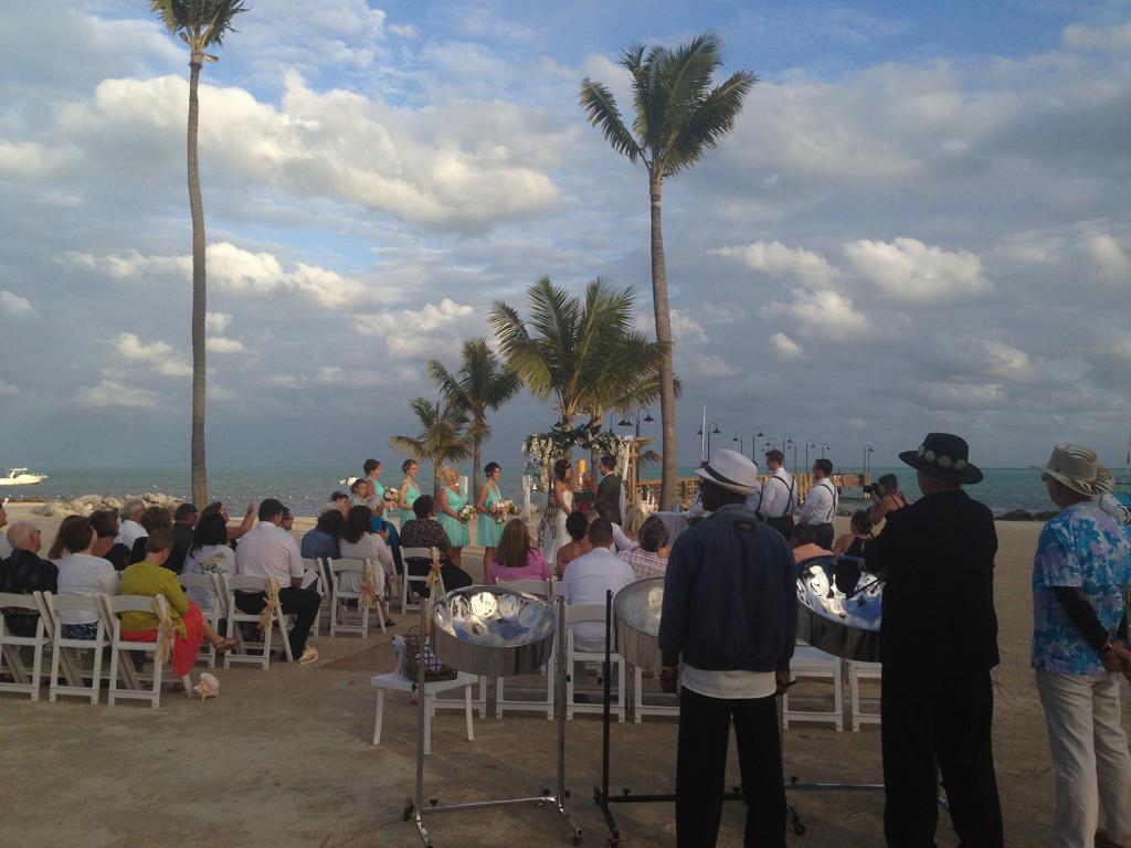 Islander Resort Wedding February 2015 Islamorada Steel Drum Band